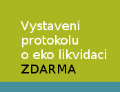 Vystavení protokolu o ekologické likvidaci ZDARMA